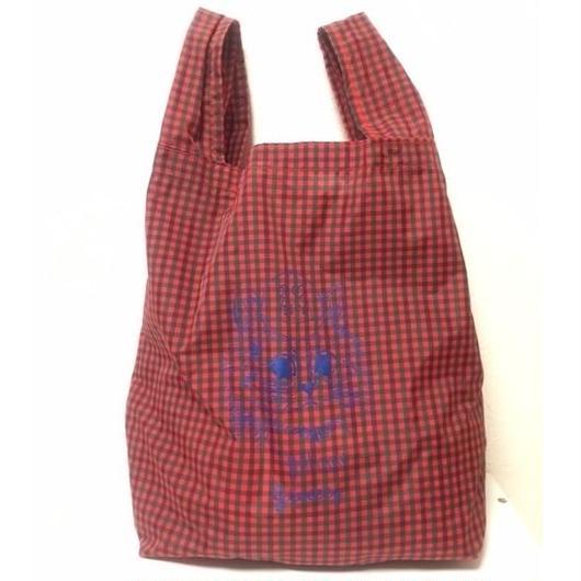 POCKETABLE SHOPPING BAG RED 折りたたみショッピングバッグ レッド