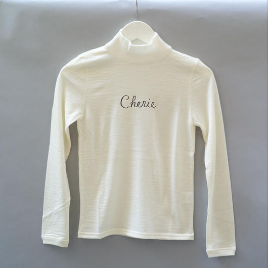 Cherie Mid-Neck Sweater/ White