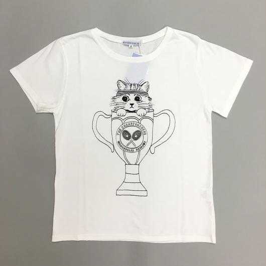 TENNIS CAT T-SHIRTS WHITE/ テニスキャットTシャツホワイト