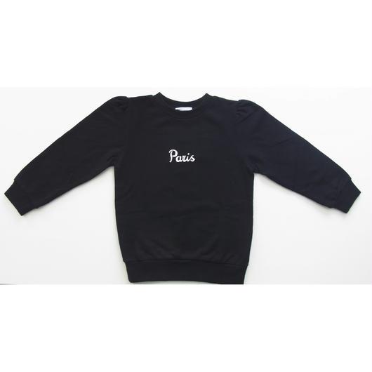 Lady Sweat Shirts Paris BLACK レディスウェットブラック