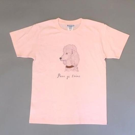 """SOUVENIR TEE """"PARIS JE T'AIME"""" スーベニアTシャツ""""パリジュテーム""""  ピンク"""
