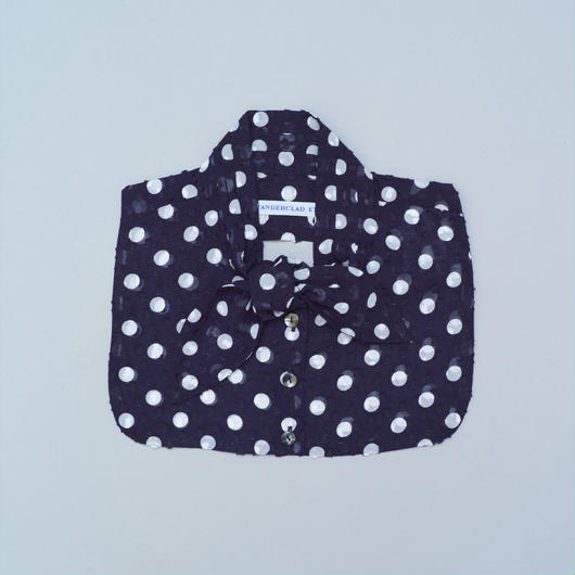 Bow Collar/ Navy dot