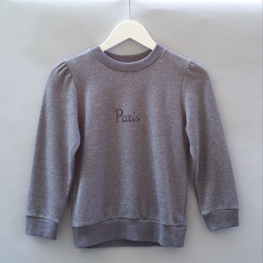 Lady Sweat Shirt Paris グレー