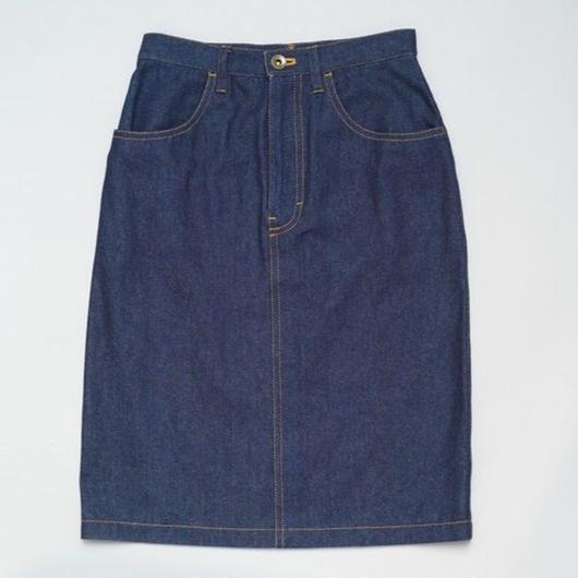 Ribbon Stitch Denim Skirt