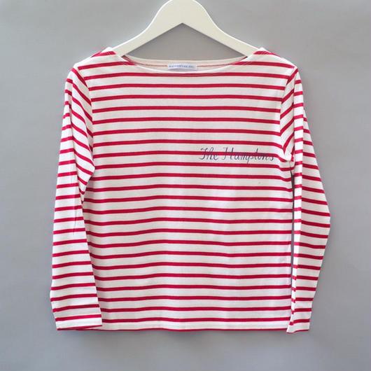 THE HAMPTONS LONG SLEEVE T-SHIRTS RED ハンプトンズロングスリーブTシャツ レッド