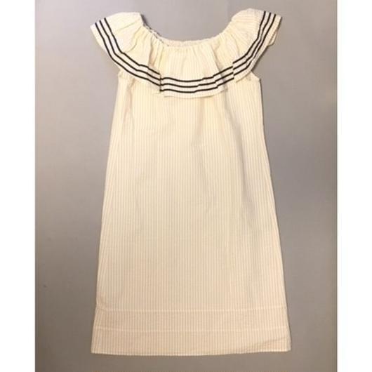サンプルセール!ALOHA DRESS BEIGE STRIPES シアサッカーベージュストライプ