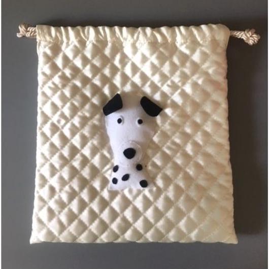 DRAWSTRING BAG DOG 巾着バッグダルメシアン