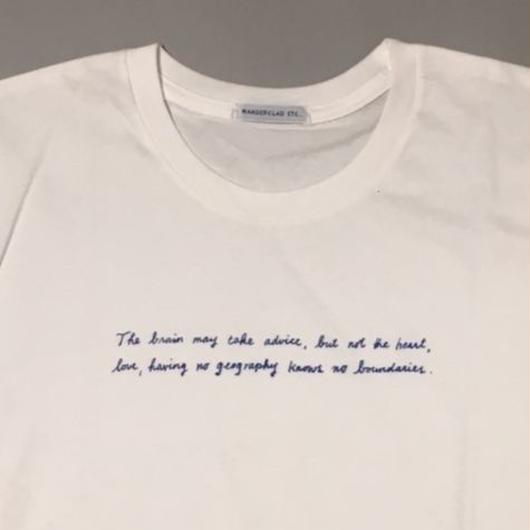 """READERS"" ORGANIC TEE C BLUE PRINT リーターズオーガニックTシャツCブループリント"