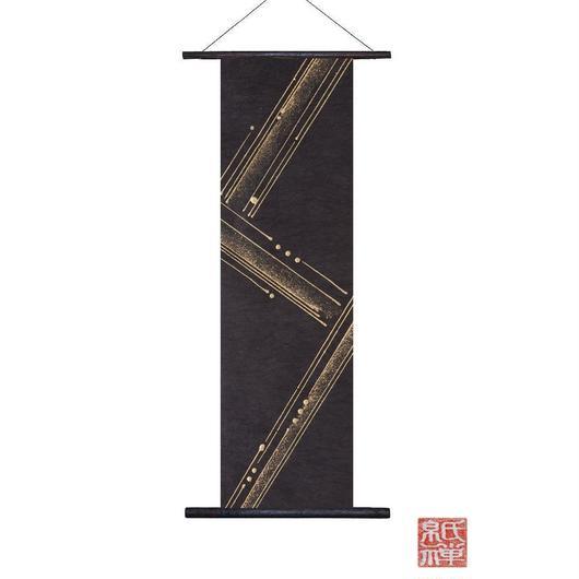 創作和紙インテリアタペストリー「紙禅」Shi-Zen和モダン樹脂デザイン40-17-1