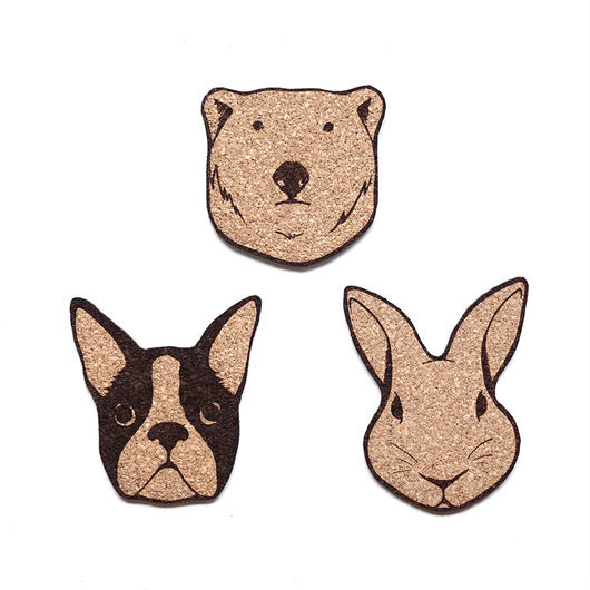 "COASTER ""Animal series""  全3種類"