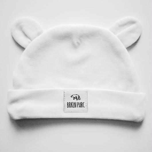 Bear ear beanie / 赤ちゃん用コットン帽子