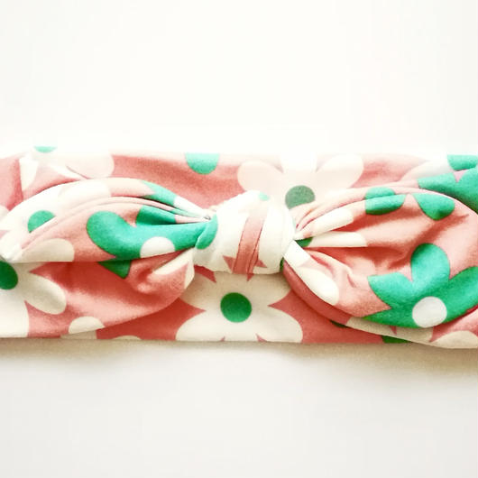 Pop floral printed hairband (pink) / ポップな花柄ヘアバンド(ピンク)