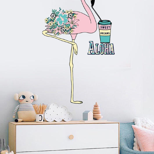 """Aloha Flamingo"" Wall decal"