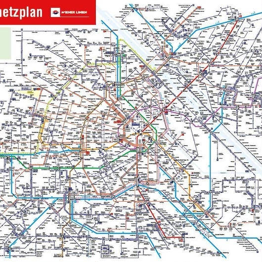 2018年版Wiener Linien路線図(最新版)