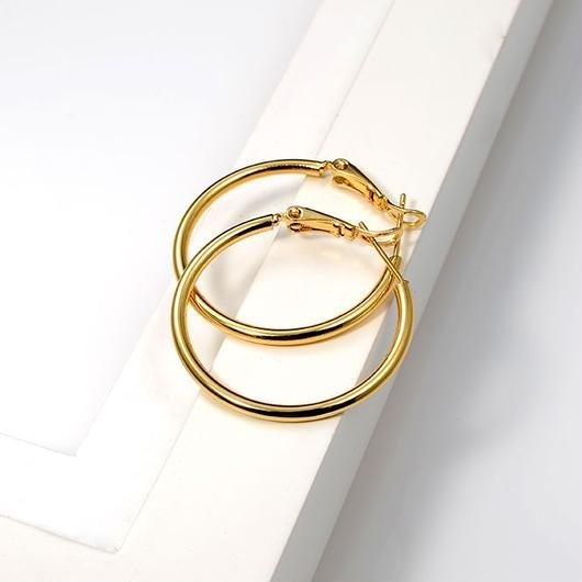 18k Yellow Gold Filled Ring Hoop Earrings 30mm