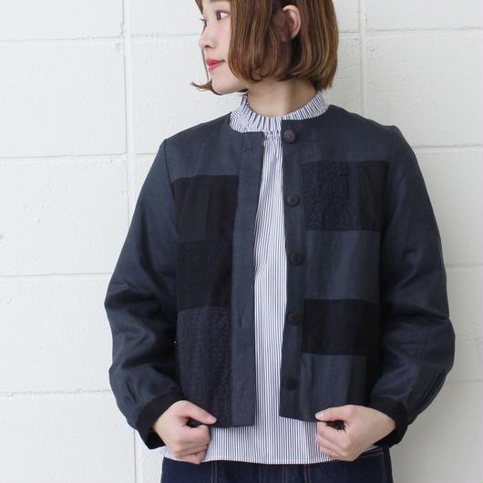 chambre de charme Noir   Lines × Lace ツギハギ ジャケット