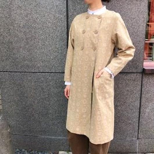 chambre de charme noir   リネン総刺繍 ノーカラーコート