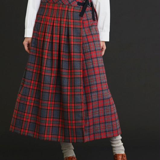 Malle chambre de charme      タータンチェック タックキルトスカート