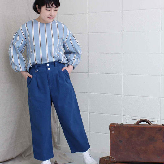 mat quotidien オックス製品染め タック9分丈パンツ