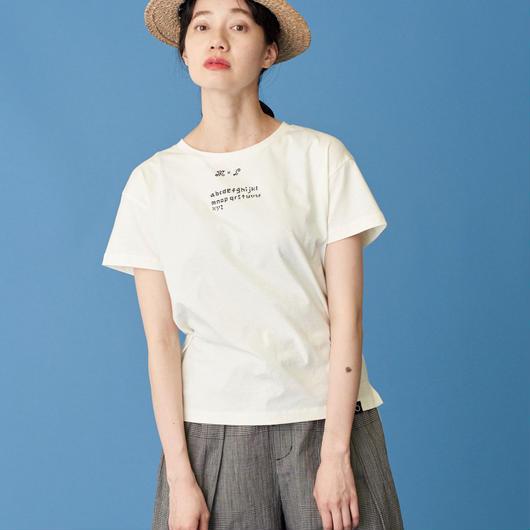 Malle chambre de charme  30sハイゲージ天竺サンプラー刺繍Tシャツ