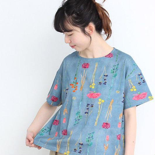 chambre de charme  きたがわじゅりコラボ プリントTシャツ