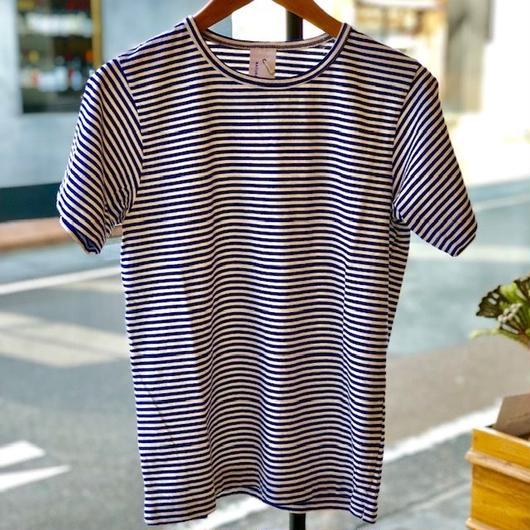 natural laundry トラッド天竺ボーダー 半袖シャツ
