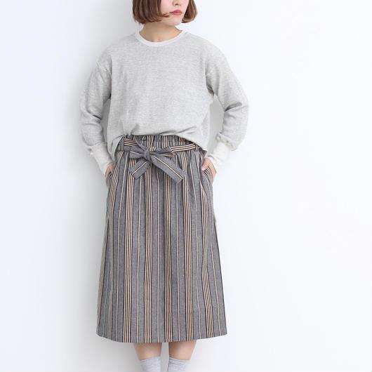 mat quotidien  ドビー太ストライプ サロン風スカート