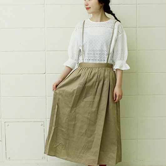 chambre de charme  ★ヴィンテージワッシャー80サテン吊りスカート