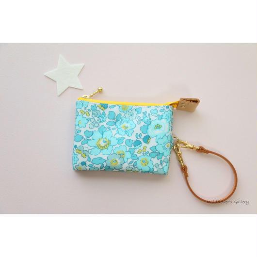 Mini Wallet Import Liberty Betsy Mint&Lemon