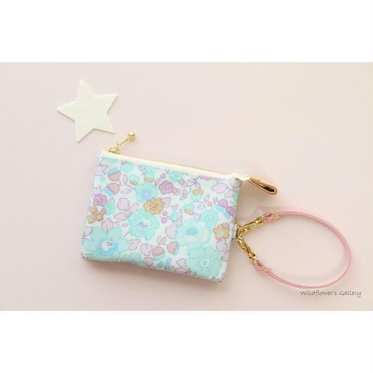 Mini Wallet Import Liberty Betsy Vert Céladon