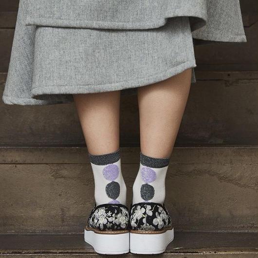靴下/ラメ/グレー/薄紫 CG