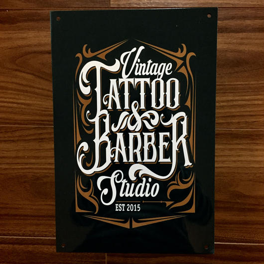 TATTO&BARBER  メタルプレート