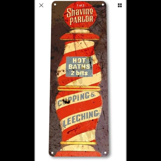Barber pole vintage sign