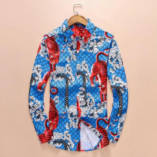 新入荷 Gucciシャツ 大人気 グッチ長袖 送料無料 上質 2色あり メンズ愛用