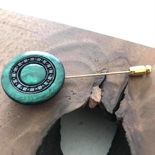 Green Medallion pin【hat pin type】