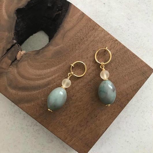 Green & lemon earring