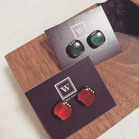 Square vintage pierce 【S】