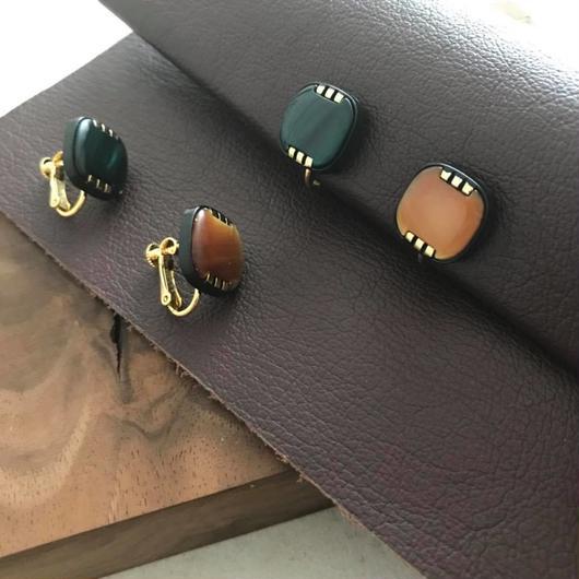 Square vintage earring  【L】