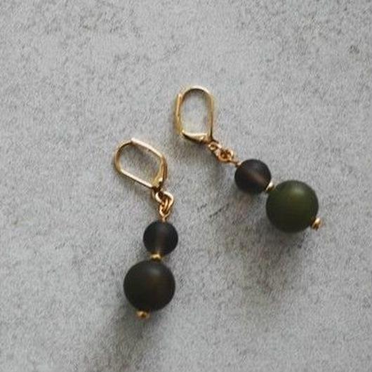 Mat ball pierce/earring【green】