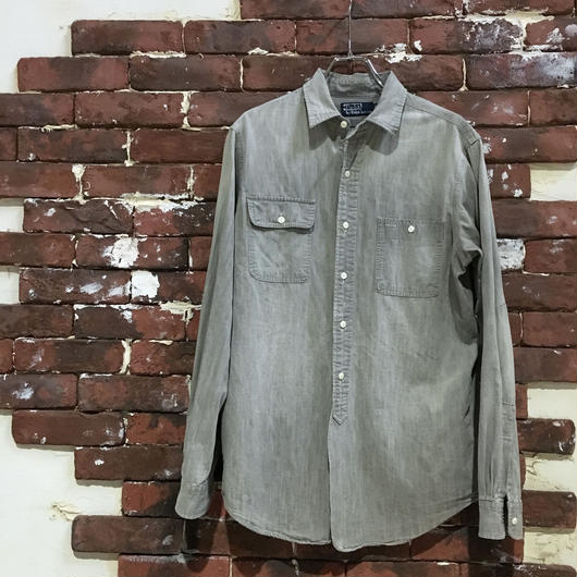 RALPH LAUREN GREY CHAMBRAY WORK SHIRT