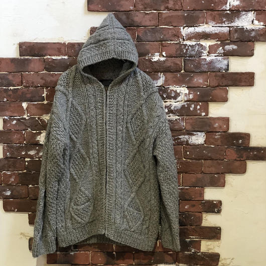 CABLE KNIT PARKA
