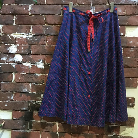 COTTON DOT PATERN SKIRT
