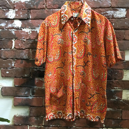 70s COTTON PATERN SHIRT