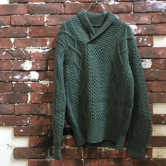 CABLE SHAWL COLLAR KNIT