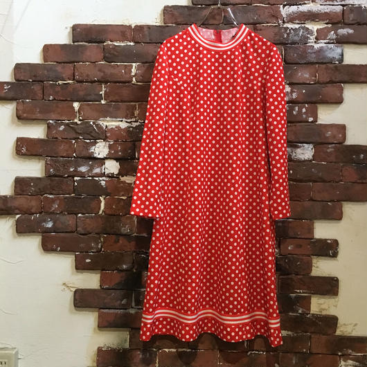 VINTAGE LADIES DOT DRESS
