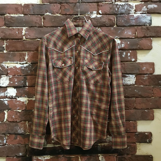 LADIES VINTAGE CHECK WESTERN SHIRT