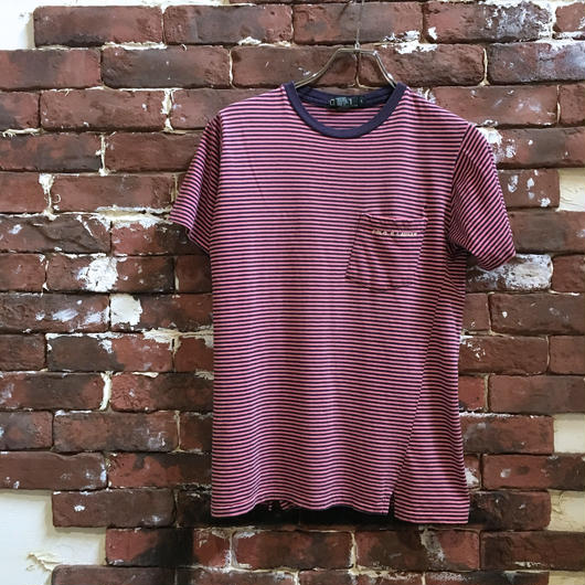RALPH LAUREN BORDER POCKET TEE