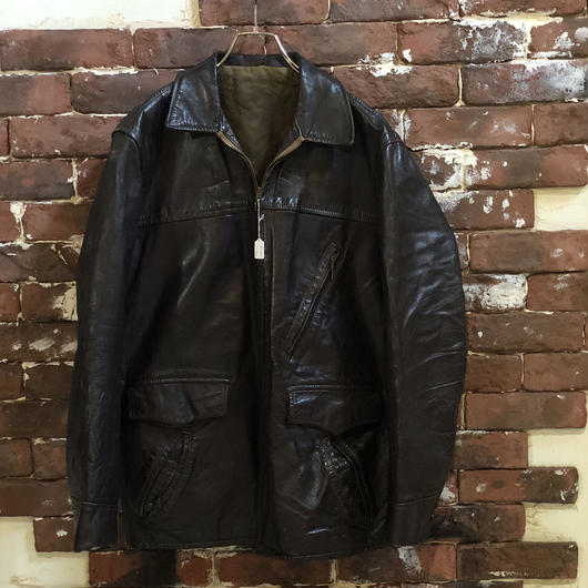 60s LEATHER HALF COAT