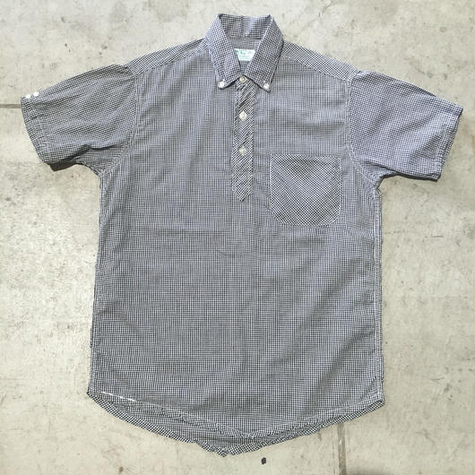 60s IVY LEAGUER GINGHAM CHECK PULL OVER SHIRT