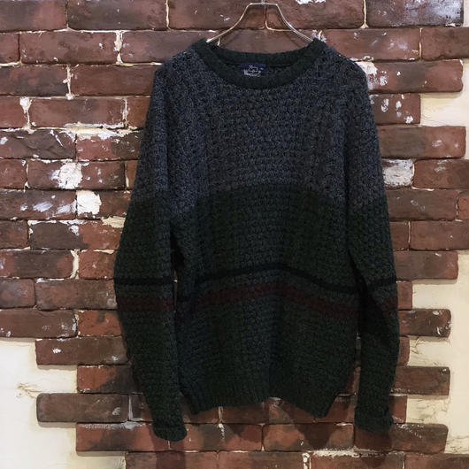 WOOLRICH WOOL BORDER KNIT